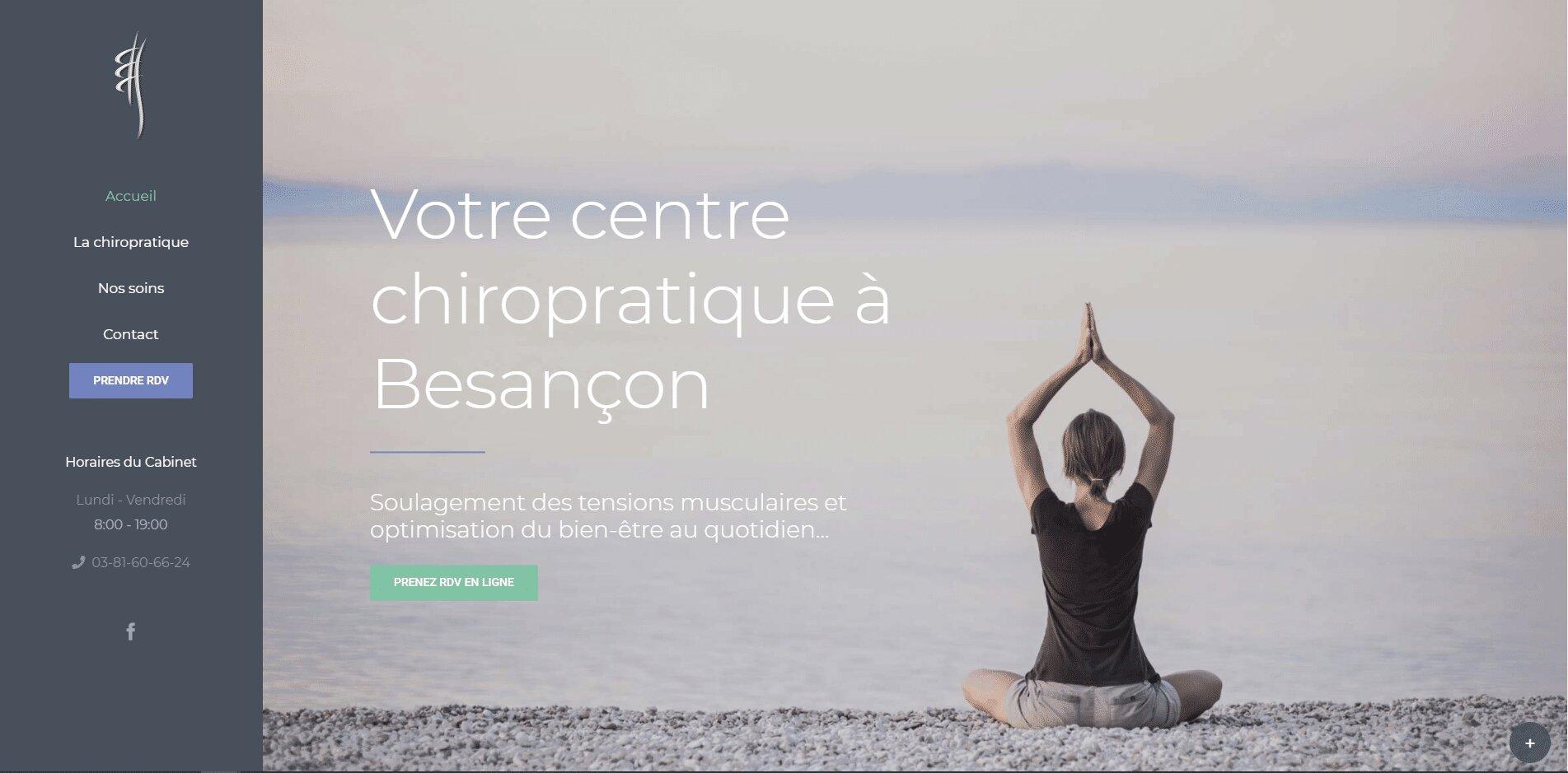 site web développé par notre agence web MediSeo Chiro Besançon